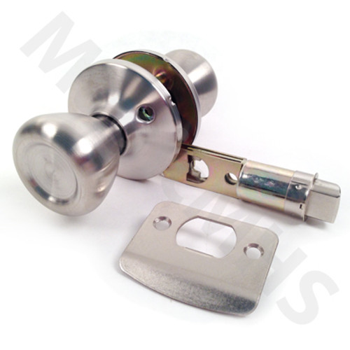 Mobile Home Interior Passage Tulip Door Knob - Brushed Stainless Steel