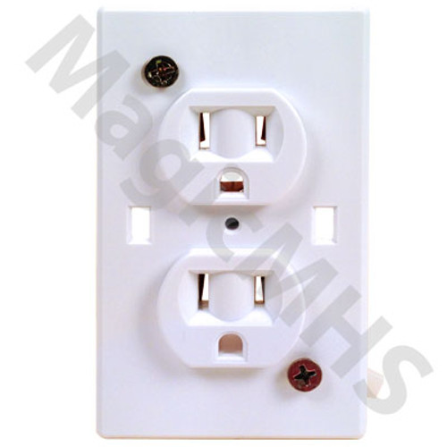 Wirecon Self Contained Receptacle - White