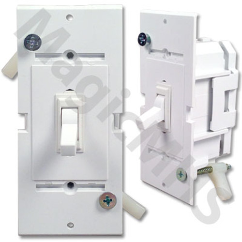 Self Contained Toggle Switch - White