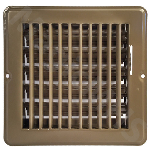 "6"" x 6"" Floor Register - Brown"