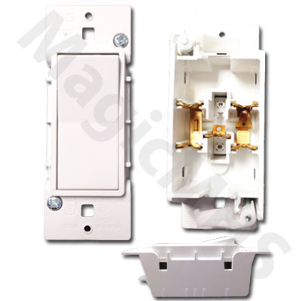 Snap-On Self-Contained Designer Switch - White