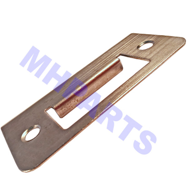 Mobile Home Door Knob Extended Strike Plate - Stainless Steel
