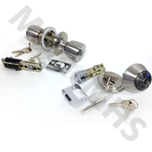 Universal Combination Lockset & Deadbolt Door Knob Set