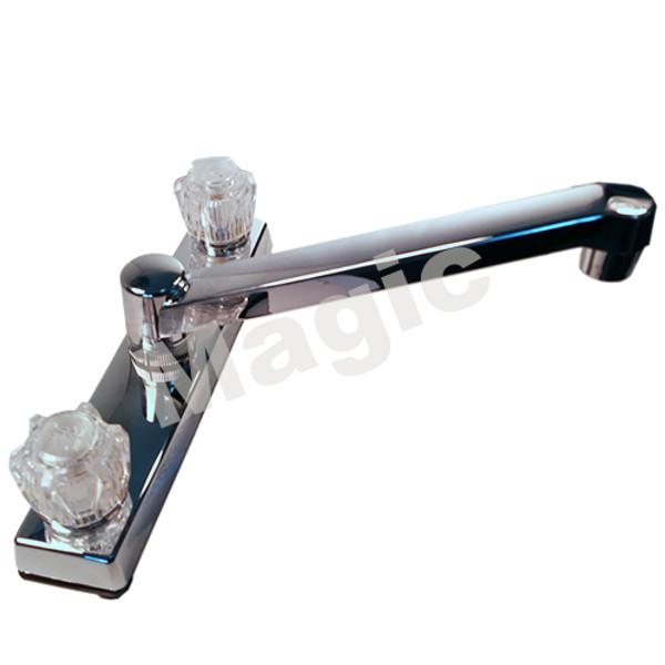 """Chrome Kitchen Faucet - 8"""""""