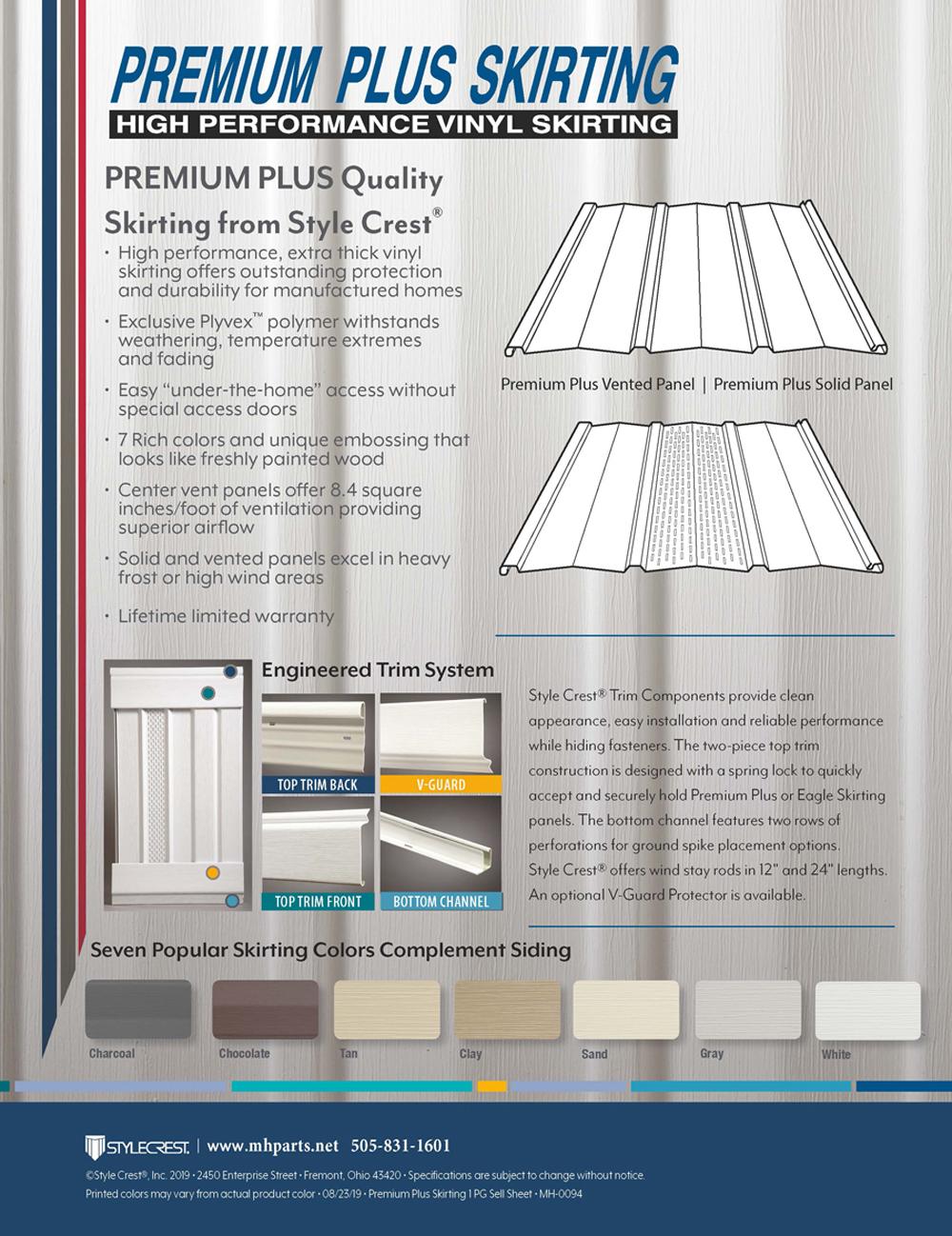 Premium Plus Vinyl Skirting info