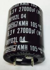 1pc - EKMH6R3VSN273MQ35T - NIPPON/United Chemi-Con - Aluminum Electrolytic Capacitors - Snap In 27000uF 6.3V 105c 20% RoHS Compliant