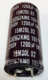 1pc - EKMQ201VSN122MQ50S - NIPPON/United Chemi-Con - CAP ALUM 1200UF 20% 200V 105c SNAP IN RoHS COMPLIANT