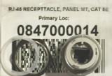 1pc 0847000014 MOLEX Connector RJ-45 Receptacle Panel Mount Cat 5e