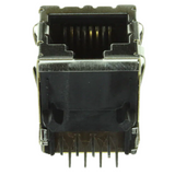 Pack of 14   5406299-1   TE Connectivity   Connector Modular Telephone Jack 8p8c R/A Shielded EMI Finger Cat5 Date Code:10263 :RoHS, Plastic Tray