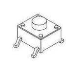 Pack of 10  101-TS6424T3201-EV  Mountain Switch  Tactile Switches 12SQ 320gf Salmon SMD/SMT