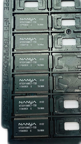 Pack of 6   NT5SV16M8CT-75B  128Mb synchronous DRAM, Tray