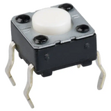 Pack of 12  EVQ-PAC04M  Tactile Switches FLAT ACT 1NF 6x6x4.3mm  SPST-NO 0.02A 15V :RoHS