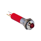 19040253  LED Panel Indicator 12V 25mA Quick Connect 9.00mm Round with Domed Top