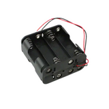 """Pack of 3  BH48AAW  Battery Holder (Open) AA 8 Cell Wire Leads - 6"""" (152.4mm), RoHS"""
