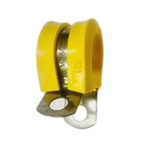 M85052/1-8  Crescent Steel Yellow Nitrile Rubber Clamp, Loop, Military Specification