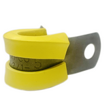 M85052/1-5  Yellow Crescent Steel Nitrile Rubber Clamp, Loop, Military Specification