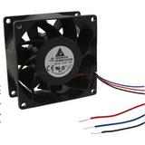 FFB0812VHE-F00 DC Fan Axial Ball Bearing 12V 7V to 13.8V 57.21CFM 44.5dB 80 X 80 X 38mm