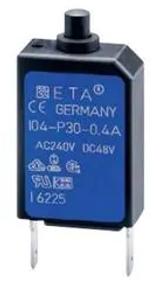104-PR3-1.5A  Circuit Breaker Thermal 1Pole 1.5A 240VAC/48VDC 104000006130I 104-PR3-1.5AMP 104-PR014014-1.50A
