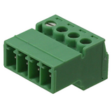 """Pack of 2  1857906   Terminal Block Plug 4 Position , Male Pins 0.150"""" (3.81mm) - 180° Free Hanging (In-Line)"""