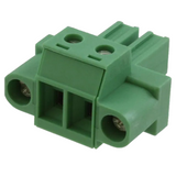"""1828249    Terminal Block Plug 2 Position , Female Sockets 0.300"""" (7.62mm) - 180° Free Hanging (In-Line)"""