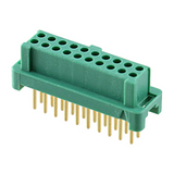 G125-FV12005L0P  Connector Receptacle 20 Position 0.049 Gold Through Hole PCB :Rohs, Cut Tape