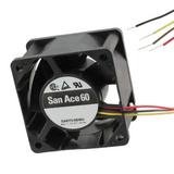 9GV0624P1G03    Fan Tubeaxial 24VDC Square - 60mm L x 60mm H Ball 84.0 CFM (2.35m³/min) 4 Wire Leads