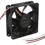 08025SA-24R-AL-00  Fan Tubeaxial 24VDC Square - 80mm L x 80mm H Ball 60.0 CFM (1.68m³/min) 3 Wire Leads