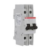 SU202M-K25   Miniature Circuit Breaker, Trip Curve K, 25 Amp, 2 Pole