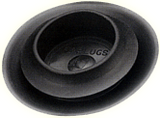 """Pack of 10   BPFE-17MM   Catplug Finishing Black Plastic Rubber/ Fits Hole Size .650-.709""""- Metal Thickness .031-.079"""