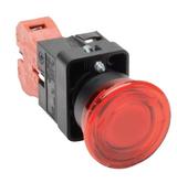 GCX3226-24L  AutomationDirect pushbutton, 22mm, twist-to-release, LED illuminated, (1) N.C. contact(s), plastic base, plastic bezel, Operator: red, mushroom, 40mm, round, plastic, 24 VAC/VDC; full voltage.