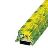 Pack of 10  MSB 2 5-NS 35-PE   Mini feed-through terminal block - connection method: Spring-cage connection - number of connections: 2 - cross section: 0.08 mm² - 4 mm² - AWG: 28 - 12 - width: 5.2 mm - height: 22 mm - color: green-yellow - mounting type: NS 35/7,5 - NS 35/15