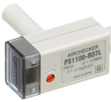 """PS1100-R07L  Switch, Vacuum, Pneumatic, -.1 To .4 Mpa, 12-24 VDC In, 40Ma Out, 1/4"""" Port"""