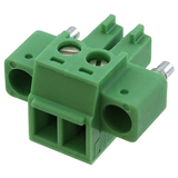 """Pack of 11 1827703  Terminal Block Plug 2 Position, Female Sockets 0.150"""" (3.81mm) - 180° Free Hanging (In-Line)"""