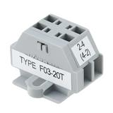 F03-20T  Sensor Fixed Terminal Blocks Terminator :RoHS