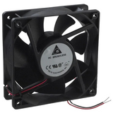 AFB1224VHE  Fan Tubeaxial 24VDC Square - 120mm L x 120mm H Ball 130.0 CFM (3.64m³/min) 2 Wire Leads