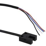 "EE-SX954P-R 1M  Optical Sensor Through-Beam 0.197"" (5mm) PNP - Dark-ON/Light-ON - Selectable Module, Wire Leads, Slot Type"