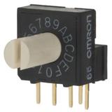 A6RV-161RS  Switch Rotary Dip Hexadecimal 25MA 24V 16 Position Through Hole :RoHS