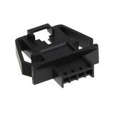 "Pack of 5  0701070038   Rectangular 4 Connectors - Housings Plug Black 0.100"" (2.54mm)"