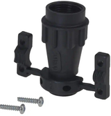 UTG10AC  Black Connector Backshell, Cable Clamp 9/16-24 UNEF 10