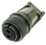 MS3106F16-11S Position 2 Circular Connector Plug, Female Sockets Solder Cup