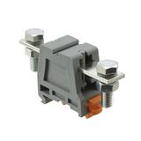 2130004  Terminal Block Connector 2 Position Feed Through Gray 4-6 AWG