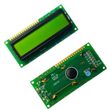 1601A Character LCD Module 16X1 Display Screen LCM with Yellow Green Backlight URTA-AH16x1A-YYB-ET