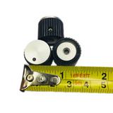 "DS70-1BD-1 RAYTHEON 3/4"" Glossy Black Knob w/Aluminum Insert & Dot - 1/8"" Shaft"