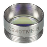 C240TME-B THORLABS f = 8.0 mm, NA = 0.5, Mounted Geltech Aspheric Lens, AR: 600 - 1050 nm