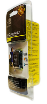 765037-28 Life Coach Watch Fitness Monitor With Motion Sensor, Color: Black/ Green