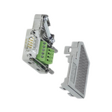 5604027  D-SUB connector, 37-pos., female connector, one cable entry <35°, universal type for all systems, pin assignment: 1, 2, 3, ... , 36, 37 to screw-connection terminal block, PHX5604027