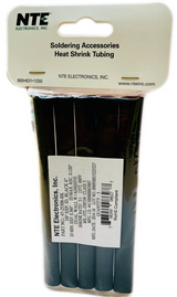 Pack of 5  47-25306-BK  HEAT SHRINK 3/8 IN Dia Dual Wall W/Adhesive Black 6 IN Length, 3:1 SHRINK RATIO ROHS
