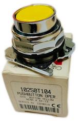 10250T104  Pushbutton, 30.5 MM 4.4X-13 Oil/Watertight Flush Yellow