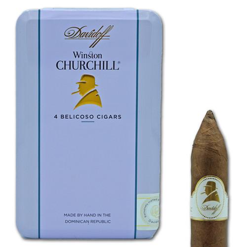Davidoff Winston Churchill Belicoso (Tin of 4)