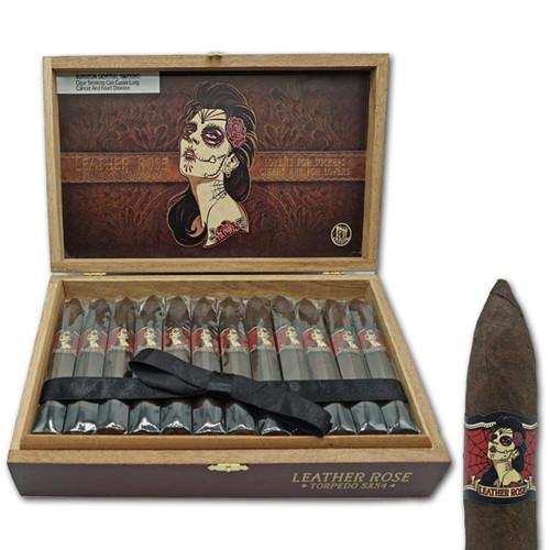Deadwood Tobacco Co. Leather Rose Torpedo